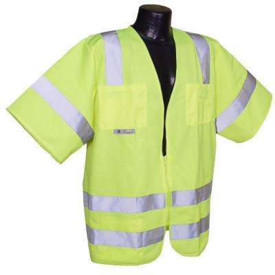 Std Class 3 Green Solid 2X-Large Safety Vest