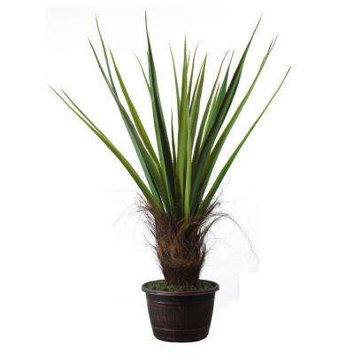 50 in. Tall High End Realistic Silk Giant Agave Plant with Contemporary Planter