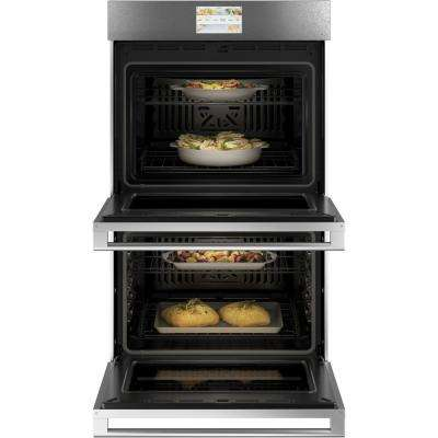 30 in. Smart Double Electric Wall Oven with Convection Self-Cleaning in Platinum Glass