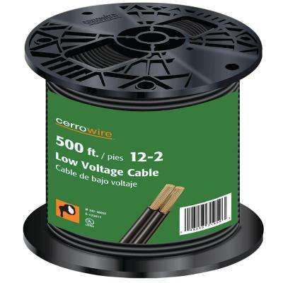 500 ft. 12/2 Black Stranded Landscape Lighting Wire