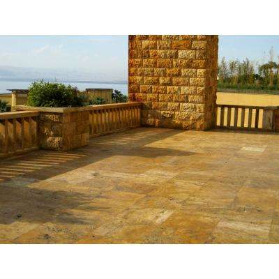 Riviera Travertine Tumbled Paver Kits (10 Kits - 160 sq. ft. / pallet)