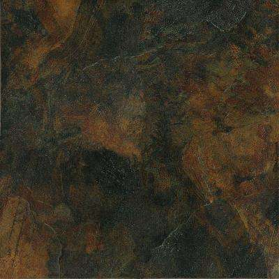 Imperial Slate Black 16 in. x 16 in. Rust Ceramic Floor and Wall Tile (13.78 sq. ft. / case)