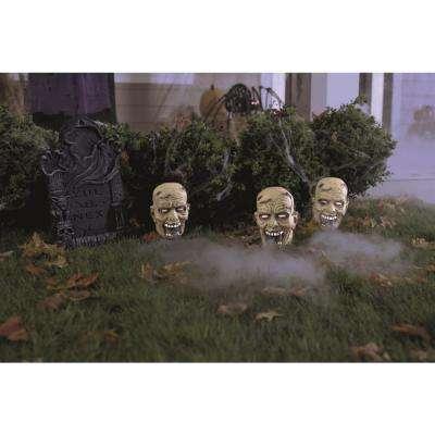 9 in. H Zombie Trio Fog Machine Accessory