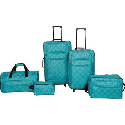 Luggage Set in Teal (5-Piece)