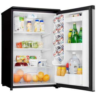 4.4 cu. ft. Mini All Refrigerator in Stainless Steel
