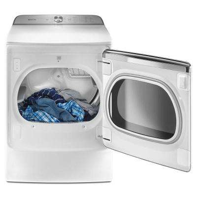 9.2 cu. ft. 240 Volt White Electric Vented Dryer with Extra Moisture Sensor, ENERGY STAR