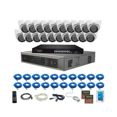 Ultra HD Plus Commercial Grade 32-Channel 4TB NVR Surveillance System with 20 Audio Capable Motorized 4-MP Cameras