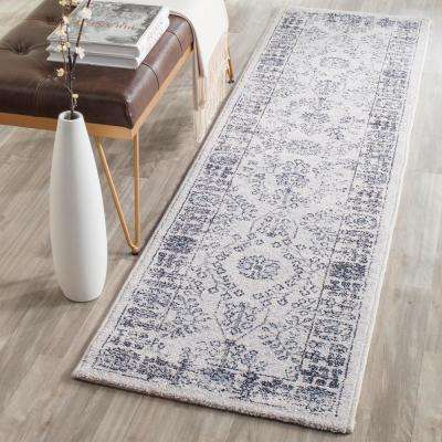 Carmel Beige/Blue 2 ft. x 10 ft. Runner Rug