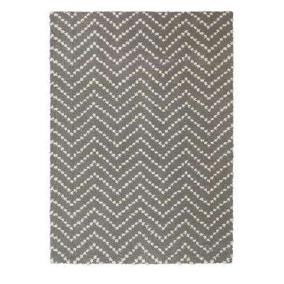 Chevron Shag Tan 5 ft. x 7 ft. Area Rug