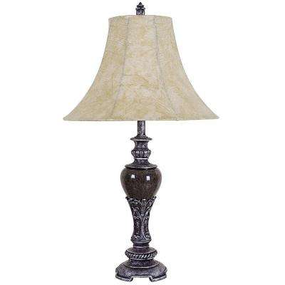 Home Decor 30 in. Black Table Lamp