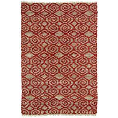 Kenwood Red 5 ft. x 7 ft. 9 in. Double Sided Area Rug