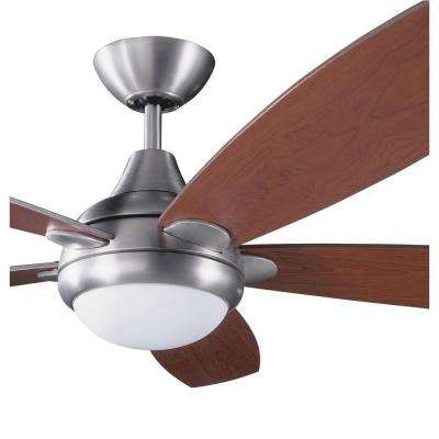 Cassiopeia 52 in. Satin Nickel Indoor Ceiling Fan