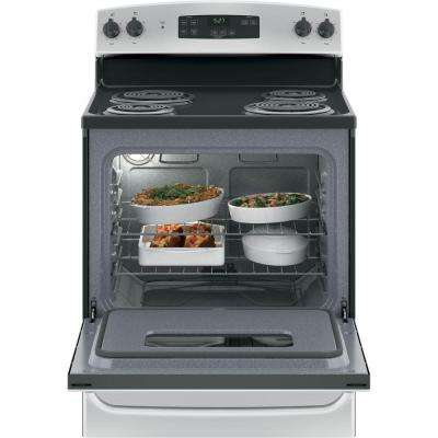 30 in. 5.0 cu. ft. Free-Standing Electric Range with Standard Clean Oven in Stainless