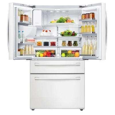 28.15 cu. ft. 4-Door French Door Refrigerator in White