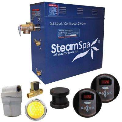Royal 7.5kW QuickStart Steam Bath Generator Package with Built-In Auto Drain in Oil Rubbed Bronze