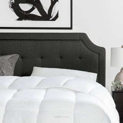 Upholstered Scoop-Edge California King Headboard with Square Tufting