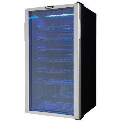 35-Bottle Wine Cooler in Platinum/Black