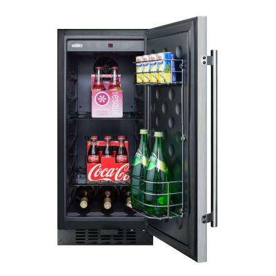 15 in. 3 cu. ft. Mini Refrigerator in Stainless Steel