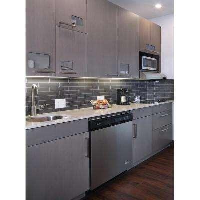 Metallic Gray 4 in. x 12 in. Glass Wall Tile (5 sq. ft. / case)