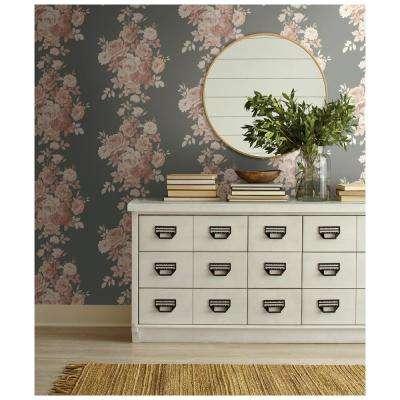 56 sq.ft. Tea Rose Wallpaper