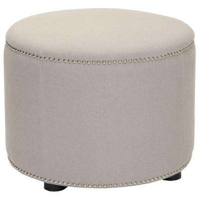 Hogan Taupe Accent Ottoman