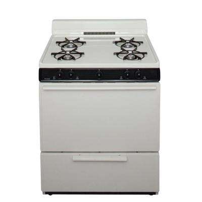 30 in. 3.91 cu. ft. Freestanding Gas Range in Biscuit