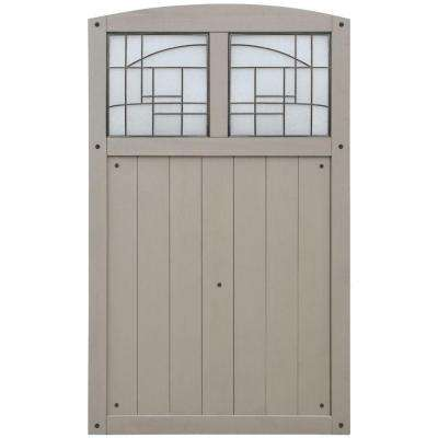 Baycrest 42 in. x 68 in. Gate with Faux Glass Insert
