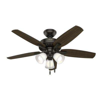 Oakfor 48 in. LED Indoor Noble Bronze Ceiling Fan with Light