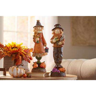15 in. Harvest Girl Scarecrow
