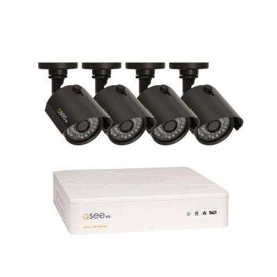 HeritageHD Series Wired 8-Channel 720p 1TB Video Surveillance System with (4) 720p Cameras and 100 ft. Night Vision
