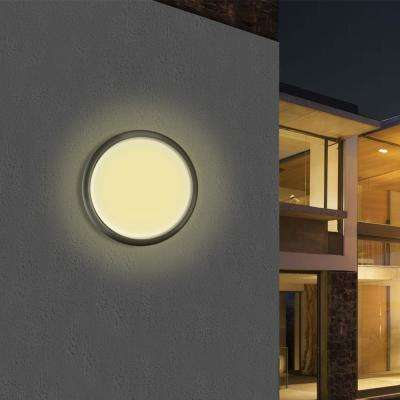 Large Architectural Bronze Integrated LED Outdoor Flush Mount for Ceiling and Wall