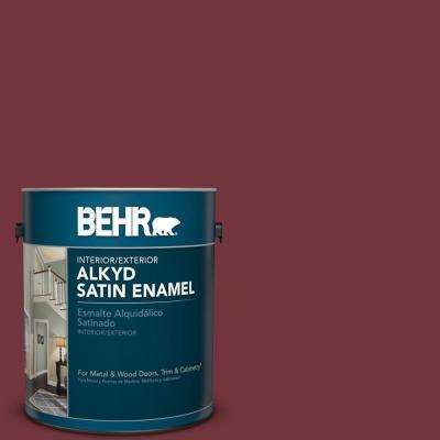 1 gal. #S130-7 Cherry Cola Satin Enamel Alkyd Interior/Exterior Paint
