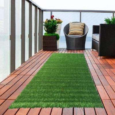 Meadowland Collection 1 ft. 8 in. x 4 ft. 11 in. Artificial Grass Synthetic Lawn Turf Indoor/Outdoor Carpet Runner
