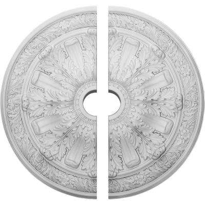 30 in. O.D. x 3-7/8 in. I.D. x 3-1/4 in. P Flagstone Ceiling Medallion (2-Piece)