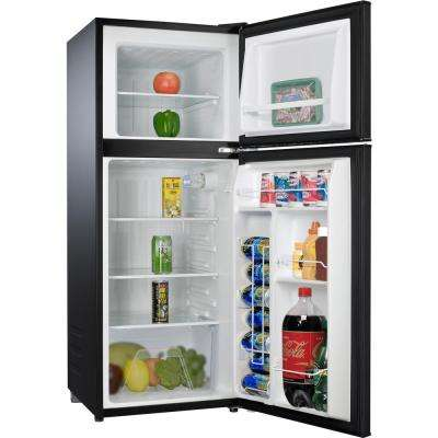 4.6 cu. ft. Mini Fridge with Dual Door True Freezer in Stainless Steel Look