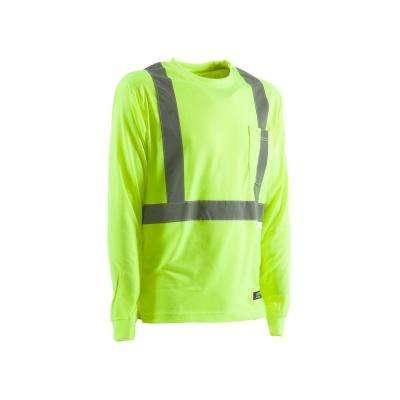 Men's Hi-Visibility Type R Class 2 Long Sleeve Pocket T-Shirt