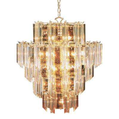 Stewart 16-Light Beveled Acrylic Crystal Incandescent Ceiling Chandelier