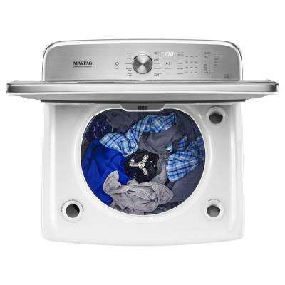 6.2 cu. ft. High-Efficiency White Top Load Washing Machine with POWERWASH System