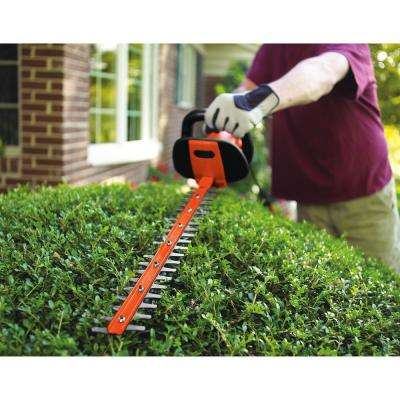 24 in. 3.3-Amp Corded Electric Hedge Hog Trimmer with Rotating Handle