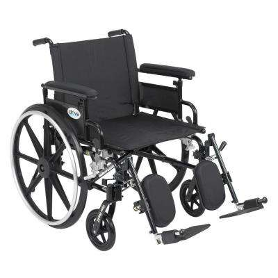 Viper Plus GT Wheelchair with Removable Flip Back Adjustable Full Arm and Elevating Legrest