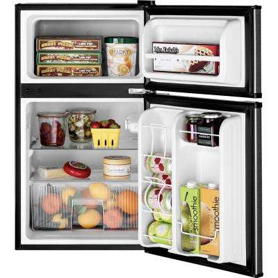 3.1 cu. ft. Double- Door Mini Fridge in Clean Steel