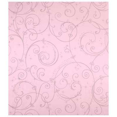 60.75 sq. ft. Perfect Princess Scroll Wallpaper
