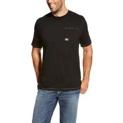 Men's Black Rebar Short Sleeve Work T-Shirt
