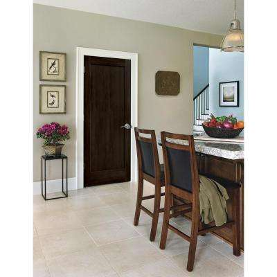 36 in. x 80 in. Madison Espresso Stain Right-Hand Molded Composite MDF Single Prehung Interior Door
