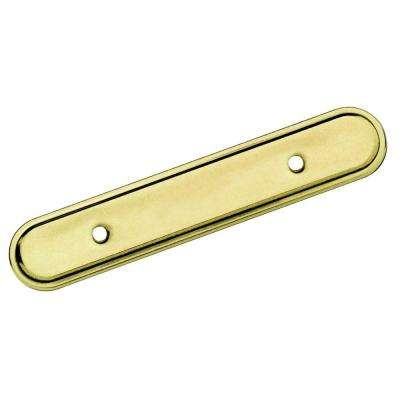3 in. Center Burnished Brass Pull Backplate