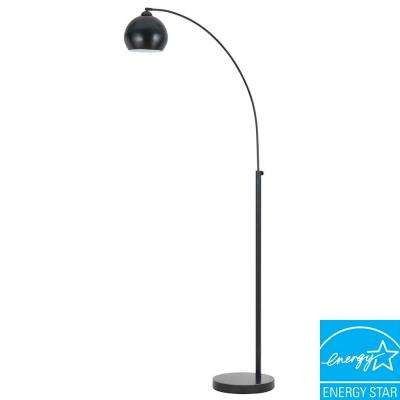 Arc 72 in. Dark Bronze Floor Lamp with Metal Shade