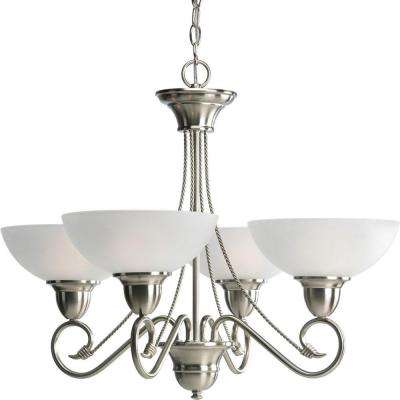 Pavilion Collection 4-Light Brushed Nickel Chandelier