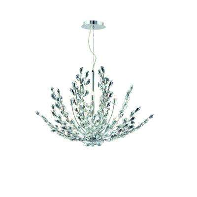 Filigree Collection 8-Light Chrome Pendant