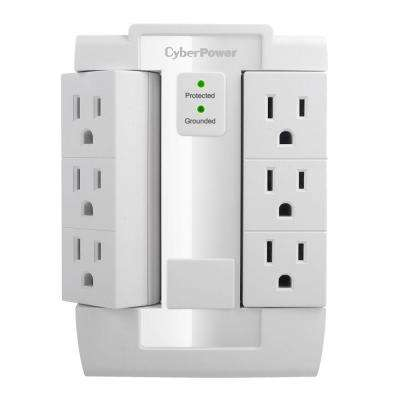 6-Outlet Swivel Wall Tap Surge Protector