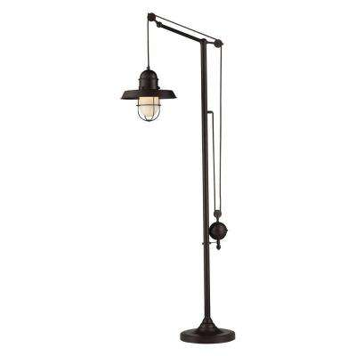 Farmhouse 69 in. Oiled Bronze Floor Lamp